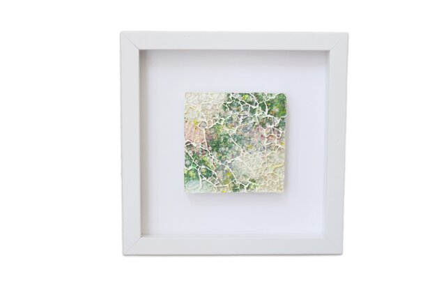 庭園のガラスインテリアアートの画像1枚目