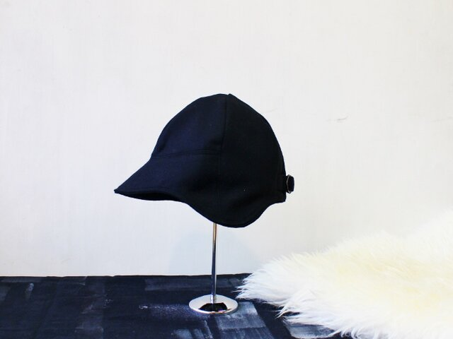 DEERCAP | FLANNEL WOOL c/#BLACK【S:50~55cm】の画像1枚目