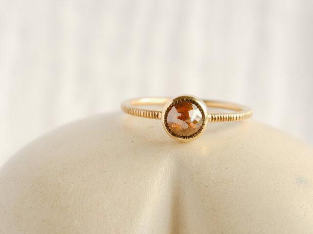 Caramel Brown Diamond Ringの画像1枚目