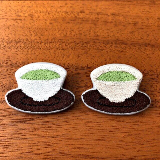 刺繍ブローチ 「お茶」の画像1枚目
