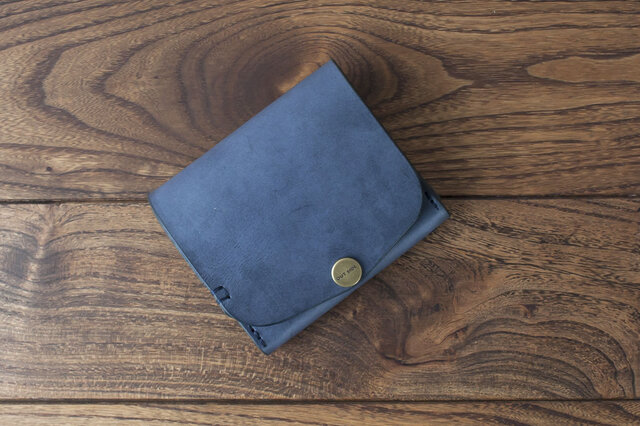 BRIDLE  二つ折り財布/ ネイビー※受注製作の画像1枚目