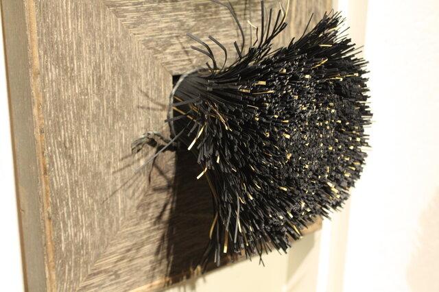 額装 紙束かべかけ 大 黒金 紙束×タクラマカン コラボの画像1枚目