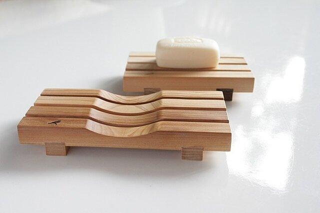 石鹸置き yue -湯坐-(L) 【表面:凹面/フラット面】の画像1枚目