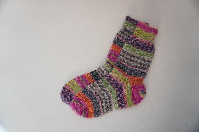 手編みの靴下 の画像1枚目