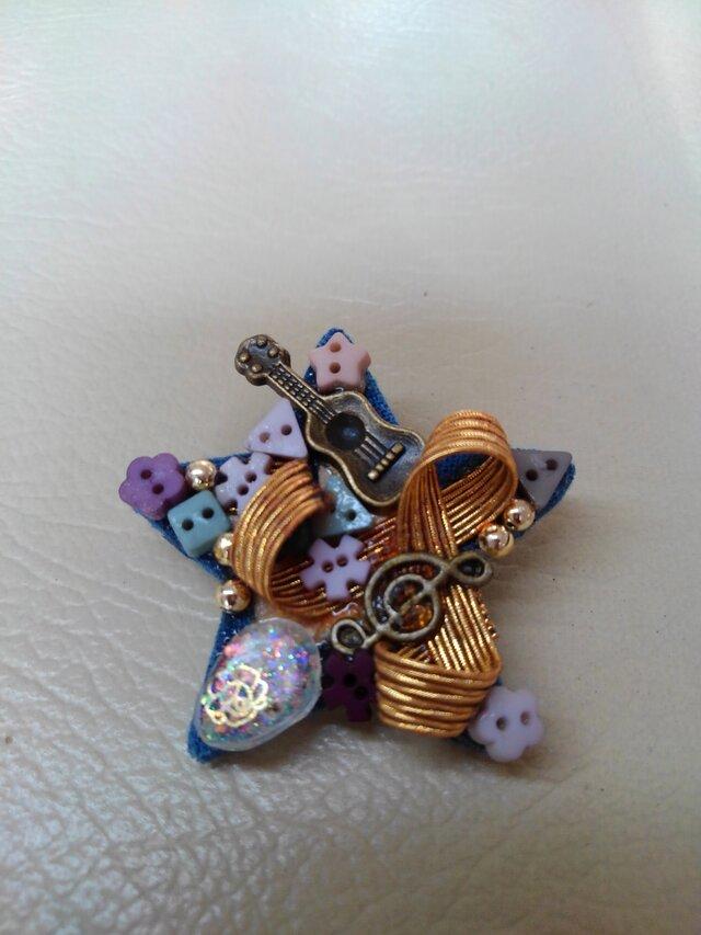 花とリズムのブローチ星の画像1枚目