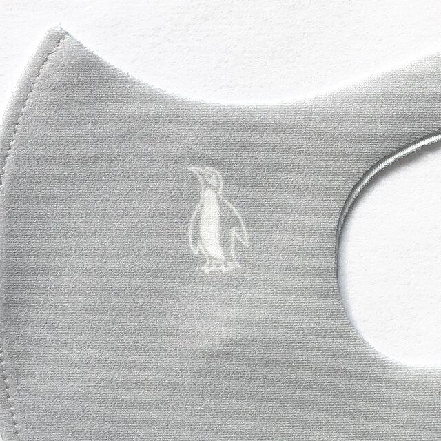 【ウレタンマスク】ペンギン親子 デザインマスク ✽ 選べる12色のくすみカラー ✽ 立体マスクの画像1枚目