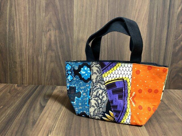 アフリカ布保冷バッグ 小の画像1枚目