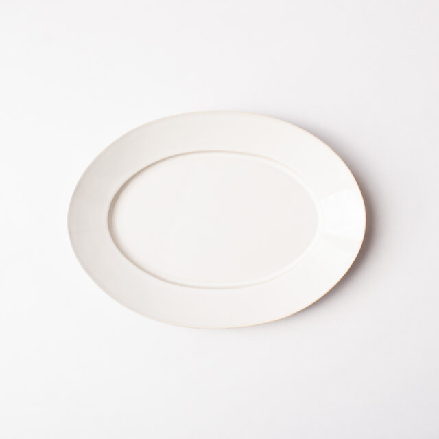 オーバルプレート L 白 (乳白釉) の画像1枚目