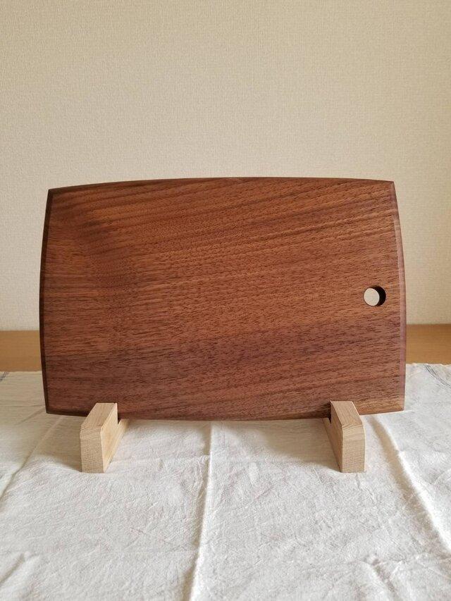 ブラックウォルナット一枚板のカッティングボード Large sizeの画像1枚目