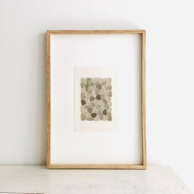 embroidery art 刺繍のフレーム warabiの画像1枚目