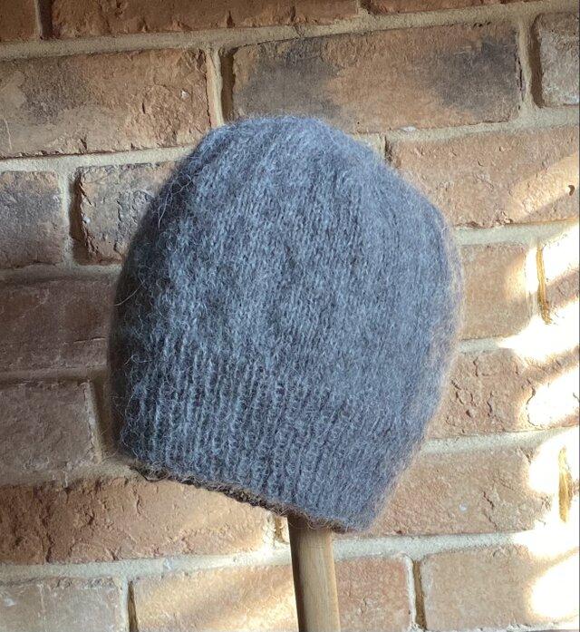 モヘア ニット帽 ・グレー ⭐︎再販4⭐︎の画像1枚目