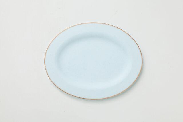 リム皿 オーバル (ライトブルー)の画像1枚目