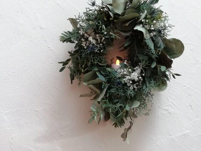 wreath-冬の森の画像1枚目