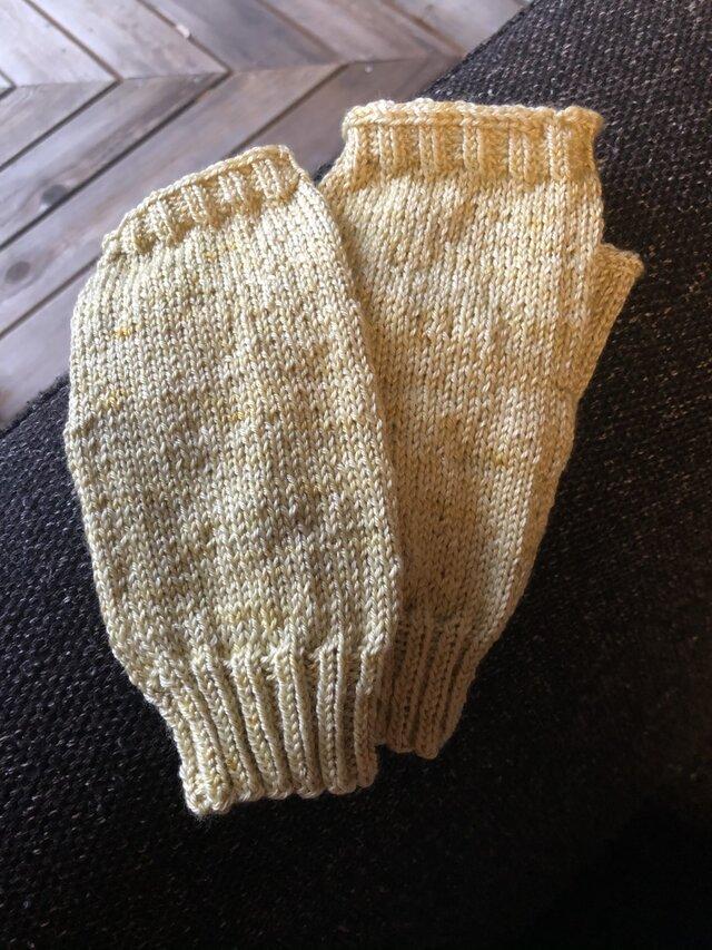 手編みミトンの画像1枚目