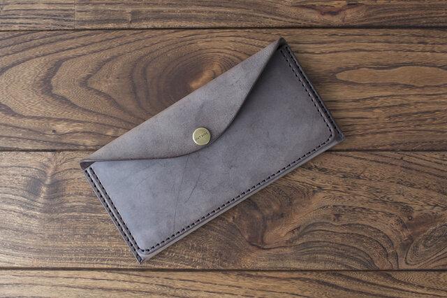 BRIDLE  スリム長財布 / チョコ※受注製作の画像1枚目