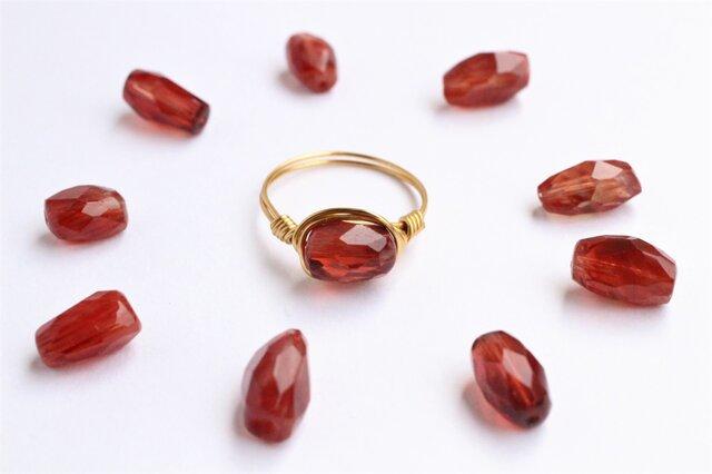 希少!宝石質 チベット産 アンデシン Wire Ringの画像1枚目
