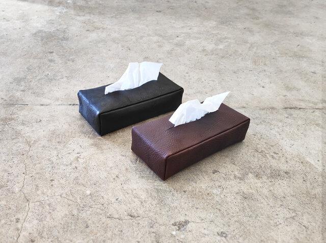 ティッシュカバー【受注生産】本革 栃木レザー ティッシュケースの画像1枚目