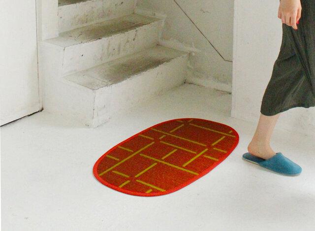 OTO い草:玄関マット(S):消臭 抗菌 涼しい ドアマット 滑り止め 天然素材 リラックス効果の画像1枚目
