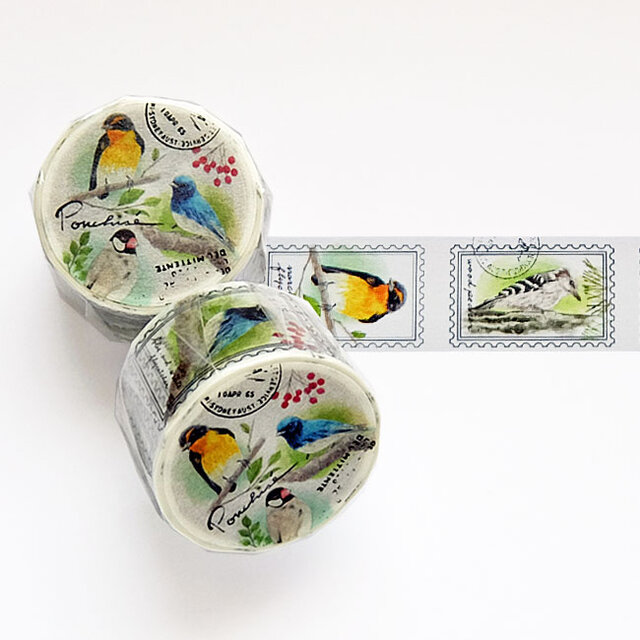 鳥のマスキングテープの画像1枚目