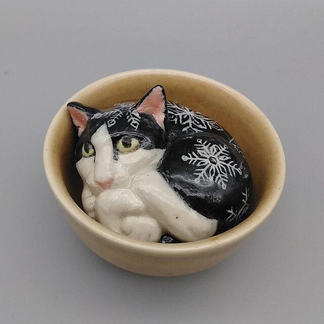 ぐいねこシリーズ 『雪結晶模様』の画像1枚目