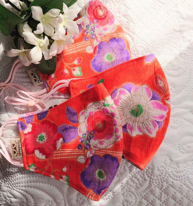 春色・和柄の布マスク『春の声』の画像1枚目