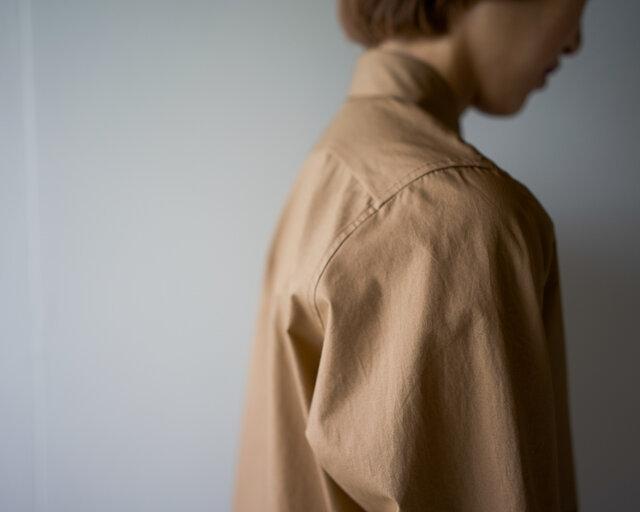 air tumbler cotton shirt/brownの画像1枚目