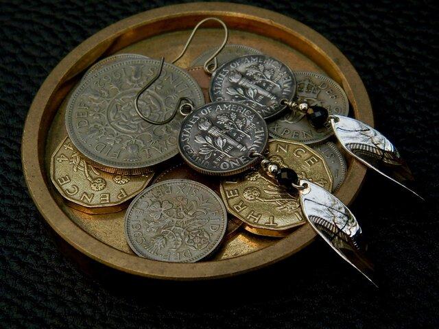 #E24 USA Coin Earringsの画像1枚目