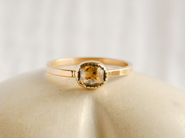 Champagne Brown Diamond Ringの画像1枚目