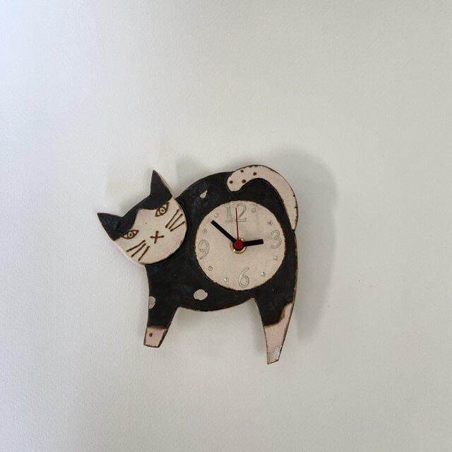ねこ 掛け時計 (陶器) no.6の画像1枚目
