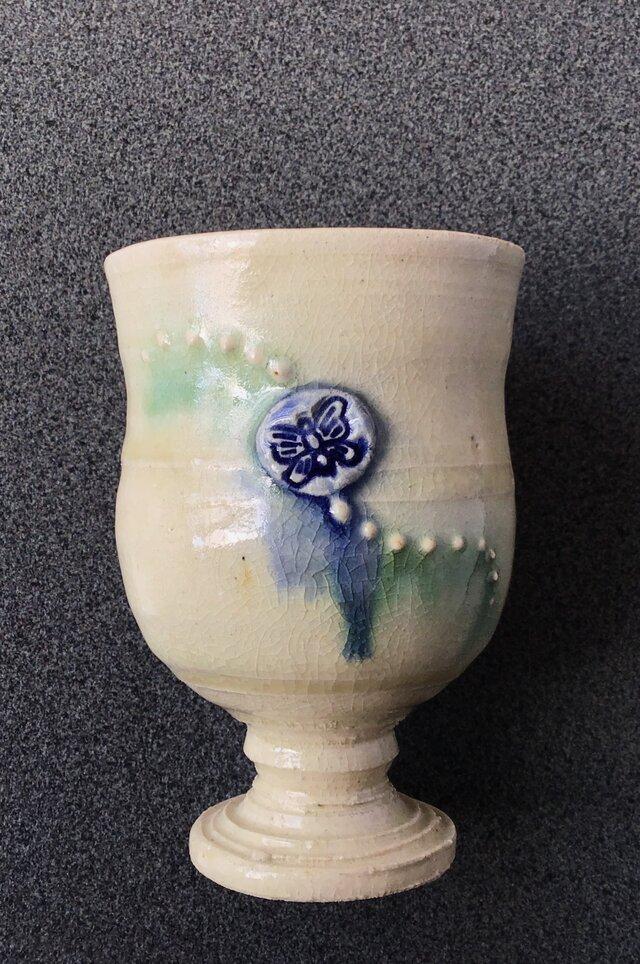 蝶々紋様 ワインカップの画像1枚目