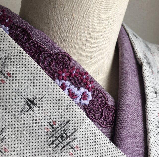洗える刺繍半衿 花冠の画像1枚目