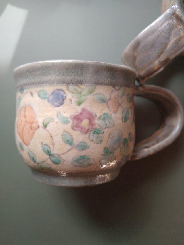 更紗みのりコーヒーカップ bの画像1枚目