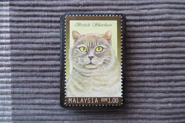 マレーシア 猫切手ブローチ 7179の画像1枚目