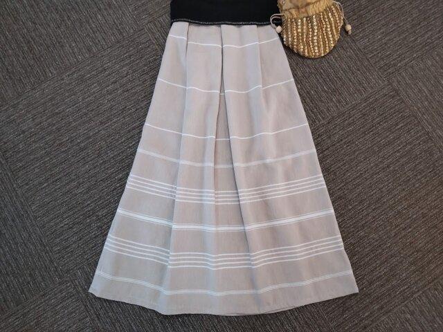 ★一品物★85㎝まで★ライト・ベージュ★トルコ綿のさわやかギャザースカート★受注製作★の画像1枚目