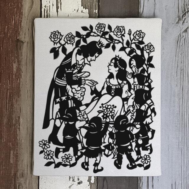 切り絵パネル「白雪姫」★送料無料の画像1枚目