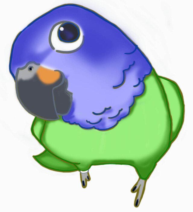 maki様専用ご注文ページ オーダー作成:ライフサイズ(1/1サイズ):セキセイインコ2羽の画像1枚目