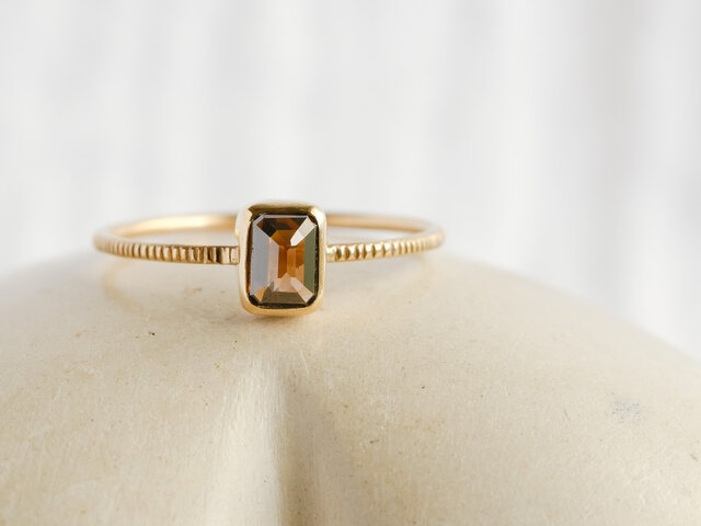 Chocolate Brown Diamond Ringの画像1枚目