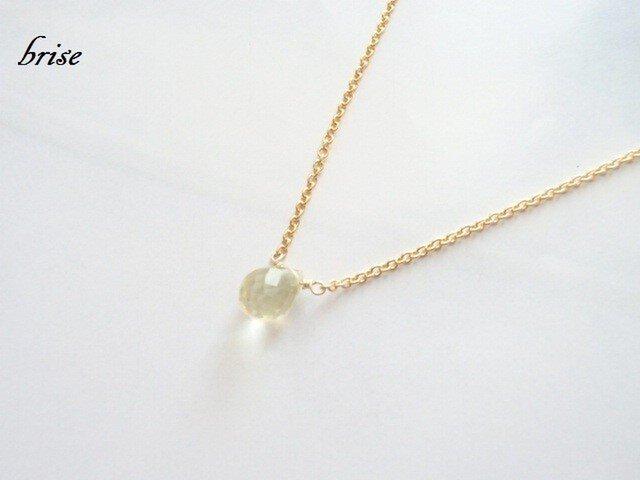 《再販》レモンクォーツのネックレスの画像1枚目
