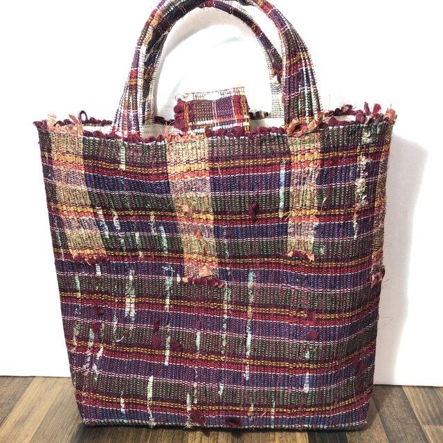 裂織り 手織り トートバッグ の画像1枚目