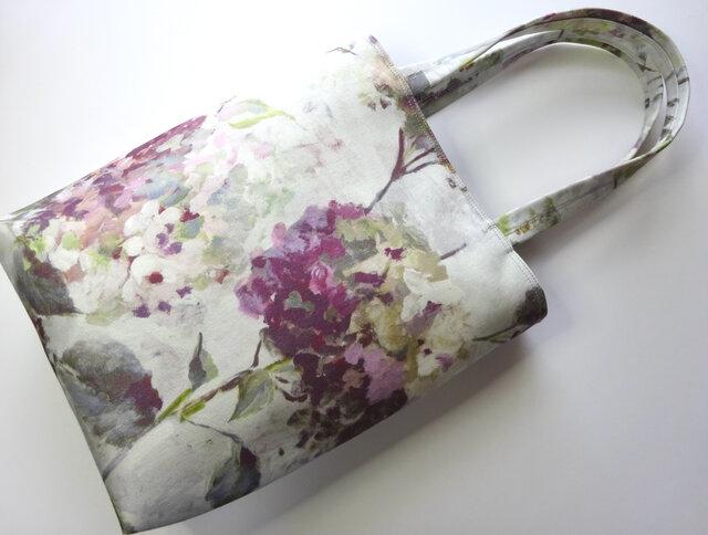 紫陽花ガーデン 縦長トートバッグ(ワイン)の画像1枚目