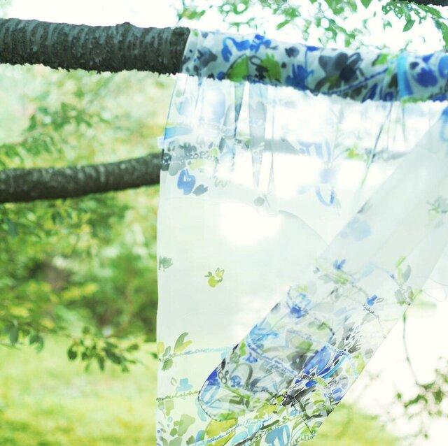 sakira風の庭シルクストール  カフェブラン・ブルー  SS-S0038BUの画像1枚目