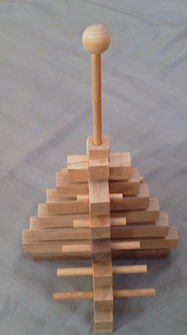 木のオブジェ 15段ピラミッドツリーの画像1枚目