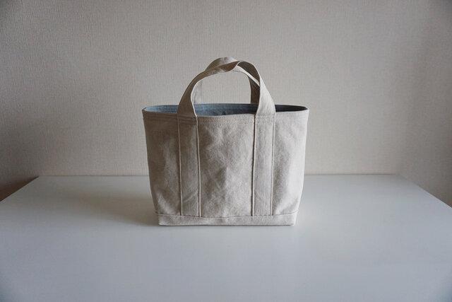 TOTE BAG -bicolor- (M) / ecru × pearlgrayの画像1枚目