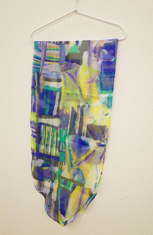 sakira風の庭シルクストールリーフ型 うたかたの無限・ブルー SL-S0090BUの画像1枚目