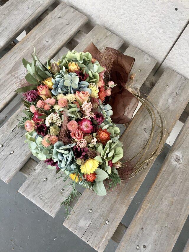 紫陽花と可愛い小花のハーフリース 母の日の画像1枚目