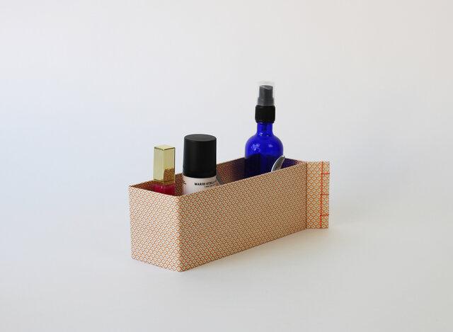 トジハコ(21×7×8):和綴 収納箱 文具収納 コスメ収納 小物入れ デスク収納 友禅紙 持ち運び 和雑貨 ステーショナリー の画像1枚目