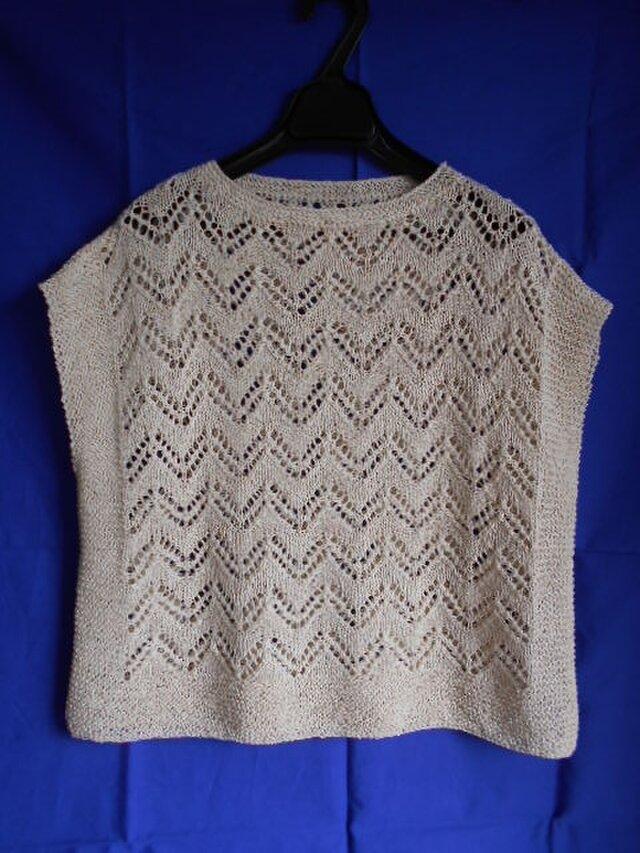 透かし編みのサマープルオーバー(1)の画像1枚目