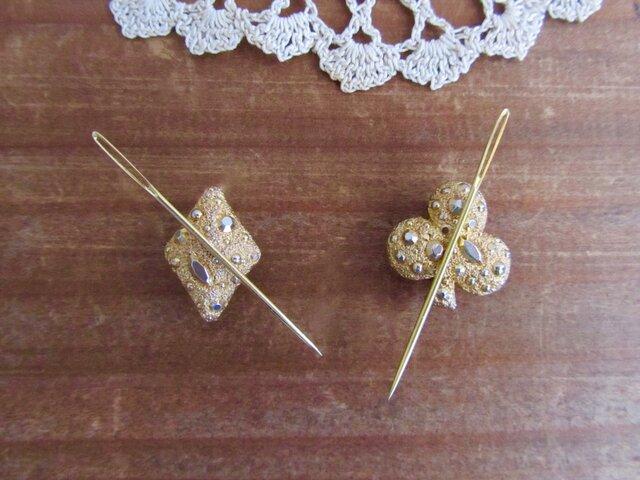 小さなマグネットのピンクッション トランプ クラブ&ダイヤ 2個セットの画像1枚目