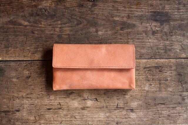 《N様オーダー》-souple style- long wallet salmonの画像1枚目