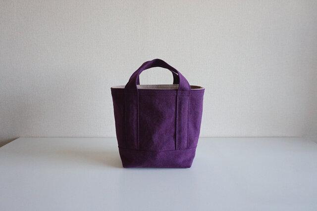TOTE BAG -bicolor- (S) / grape × pinkbeigeの画像1枚目